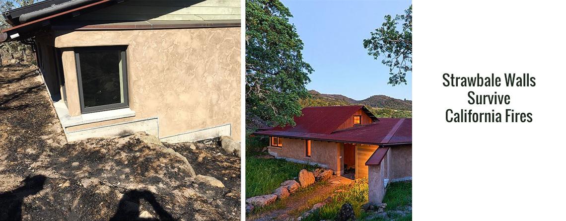 Strawbale Walls Survive California Fires